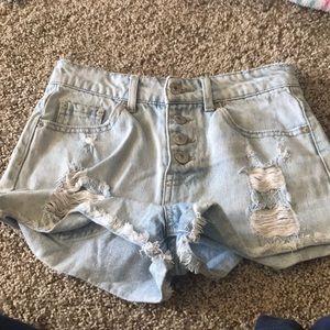 Size 25. High waisted jean shorts